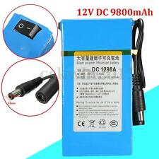 1298A DC 12V 9800mAh Rechargeable Mini Protable Li-ion Battery For CCTV Camera