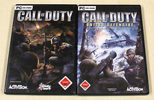 2 PC SPIELE SAMMLUNG - CALL OF DUTY 1 + UNITED OFFENSIVE - FSK 18 ego shooter