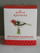 RED-HEADED WOODPECKER - MINIATURE - HALLMARK KEEPSAKE ORNAMENT - 2013