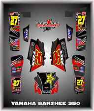 YAMAHA BANSHEE 350 YFM350 SEMI CUSTOM GRAPHICS KIT BEAST