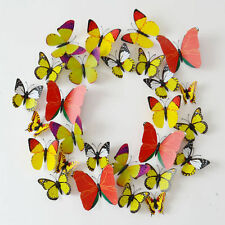 DIY 3D Butterfly Wall Sticker Decal Home Decor Art Room Pretty Decoration Yellow