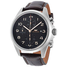Glycine Men's 3945.19AT LBK7F Combat Chronograph Automatic 43mm Black Dial Watch
