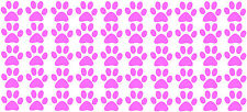 "1"" EACH LOT 50 CAT PAW PRINTS VINYL DECAL STICKER TRACK WALL OWN DESIGN CLR AVAI"