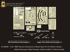 Griffon 1/144 #N144B003 U-Boat Type VII C/41 Atlantic Version Etching Parts