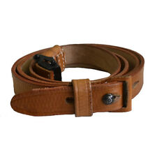 German WWII K98 rifle sling Repro  brown leather (G-128)