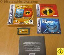 2 Games in 1: Findet Nemo + Die Unglaublichen für Nintendo GameBoy Advance - GBA