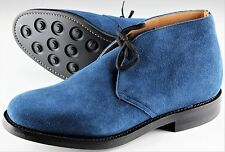 NWB CHURCH'S RYDER CHUKKA BOOT shoes Suede Ink blue Goodyear 090 US 10 EU 43