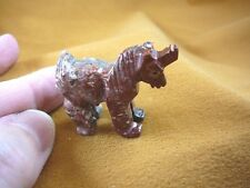 (Y-UNI-34) SOAPSTONE UNICORN stone carving figurine GEMSTONE horse love unicorns