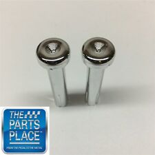 1971-88 GM Cars Chrome Door Lock Knobs Pair - Pair