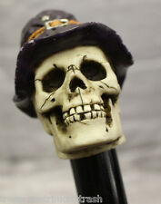 NEW Wizard Skull Head Skeleton Handle Design Wood Cane Walking Stick 37'' Tall