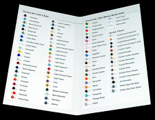 Swarovski Color Chart with 5301 Bicone beads 84 Colors!