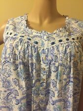 Eileen west nightgown  100% Cotton Lawn  3X Gorgeous Blue Ribbon Inserts  Multi