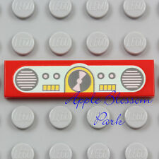 NEW Lego RADIO TILE Red 1x4 Girl Friends Minifig Aqua Yellow Boombox Speakers