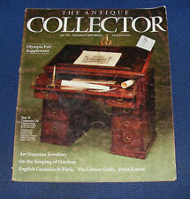 THE ANTIQUE COLLECTOR MAY 1987 - ART NOUVEAU JEWELLERY/OLYMPIA FAIR SUPPLEMENT