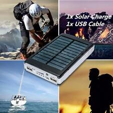 100000mAh Dual USB Portable Solar Charger Battery Power Bank For Cell Phone HQ
