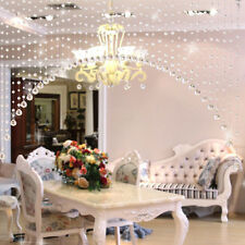 Clear Crystal Acrylic Bead Garland Wedding Home Solid Chandelier Hanging Craft