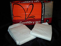 Sample pack of 2 Dry 24/7 ConfiDry Adult Diapers - Medium - ABDL - Adult Baby