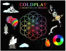 COLDPLAY A Head Full Of Dreams 2016 Ltd Ed RARE Stickers Lot Set! SUPER BOWL 50