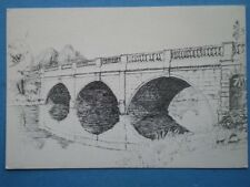 POSTCARD NOTTINGHAMSHIRE CLUMBER PPARK - THE CLASSICAL BRIDGE PENCIL SKETCH