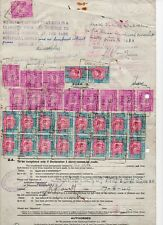 1949 South Africa Spectacular KGV1 Crown Mines Revenue Document.