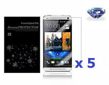 5 x Bling Diamond Sparkling Glitter Shimmer Screen Protector For New HTC One M7