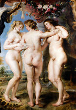 The Three Graces by Peter Paul Rubens A1 Quality Canvas Print