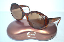 Vintage Ellen Tracy B65-411-2 Brown Oval Women's Sunglasses Frames Made in ITALY