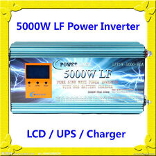 20000W Peak 5000W LF Pure Sine Wave Power Inverter 24VDC/110VAC LCD/UPS/Charger