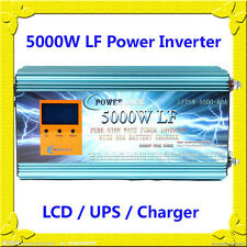 20000W Peak 5000W LF Pure Sine Wave Power Inverter 12VDC/110VAC LCD/UPS/Charger