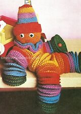 VINTAGE CROCHET PATTERN TO MAKE A LOVABLE TOY CLOWN - MADE FROM CROCHET CIRCLES