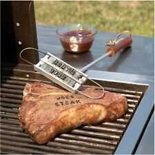 HOT BBQ BURGER BRANDING IRON & CHANGEABLE LETTERS BARBECUE NAMES TOOL STEAK - CB
