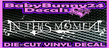 IN THIS MOMENT Rock Metal Band Logo Laptop Truck Car Decal Vinyl Sticker