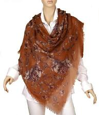 NEW ALEXANDER MCQUEEN SKULL ANGEL CIRCLE MODAL CASHMERE SHAWL WRAP SCARF STOLE