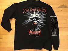 VINTAGE 90s Six Feet Under Haunted Tour Concert Sleeve Shirt Cannibal Corpse XL