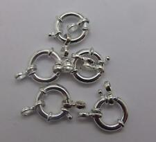 JOBLOT 5x  Sterling Silver 925 Jumbo Bolt Ring Clasp 12x3mm Jewellery Findings