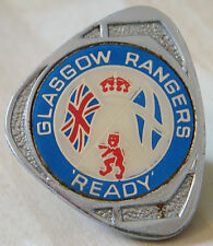 RANGERS Vintage 1970s 80s Insert type badge Brooch pin Chrome 28mm x 34mm
