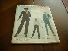 VOGUE PATTERN AMERICAN DESIGNER ANNE KLEIN #2249 JACKET, BLOUSE & PANTS Sz 12 Un