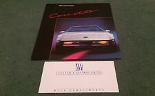 1985 CHEVROLET CORVETTE CANADIAN 9/84 LARGE BROCHURE Lendrum & Hartman Comp Slip