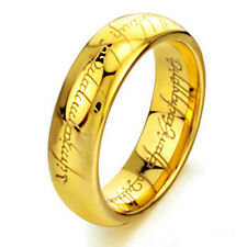 Lord of the Rings The One Ring of Power Mystery Ring Golden Color Size 7