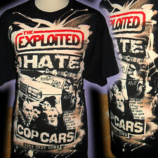 THE EXPLOITED I HATE COP CARS 100% UNIQUE PUNK T SHIRT XXL  BAD CLOWN CLOTHING