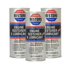 Restore your high-mileage engine with AMETECH ENGINE RESTORE OIL 3  ENGLISH CANS