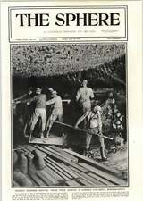 1918 Gunners At Work During Gas Shell Bombardment