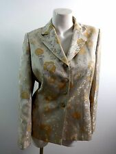 LESUIT WOMENS BEAUTIFUL PEACH FLORAL POLYESTER RAYON BLAZER SUIT JACKET SIZE 10