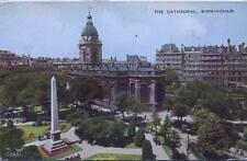 Birmingham Cathedral unused 1938 Valentine's postcard
