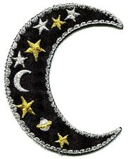 MOON celestial EMBROIDERED IRON ON PATCH **FREE SHIPPING** iron or sew applique