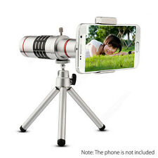 18x Optical Zoom Telescope Camera Lens Kit Tripod For Cell Phone Smartphone