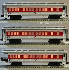 LIONEL PHILADELPHIA PHILLIES (3) PASSENGER CARS MLB coachs observation 7-12004-C