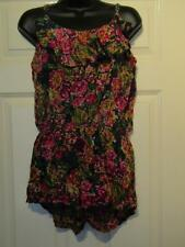 BLUE YELLOW PINK GREEN FLORAL PLAYSUIT- UK Size 14