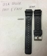 18mm fits Casio  G Shock  DW-5600C DW-5000 DW-5400C SWC-05 watch band  PVC