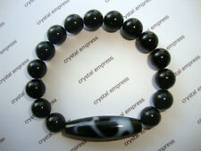 FENG SHUI - RUYI DZI WITH 10MM BLACK ONYX